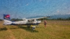 Cessna impressionist painting