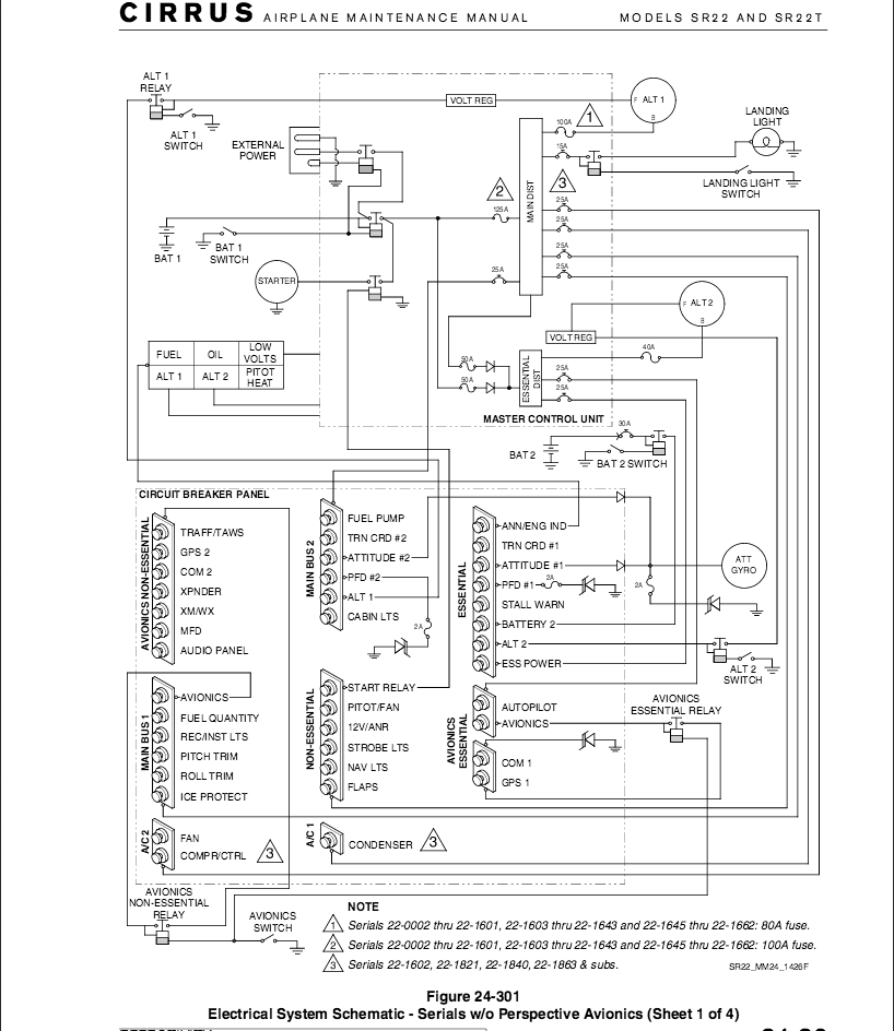 schematics maintenance & avionics sr22 g2 ( 2206) alt 1 failure cirrus sr22 wiring diagram at mifinder.co