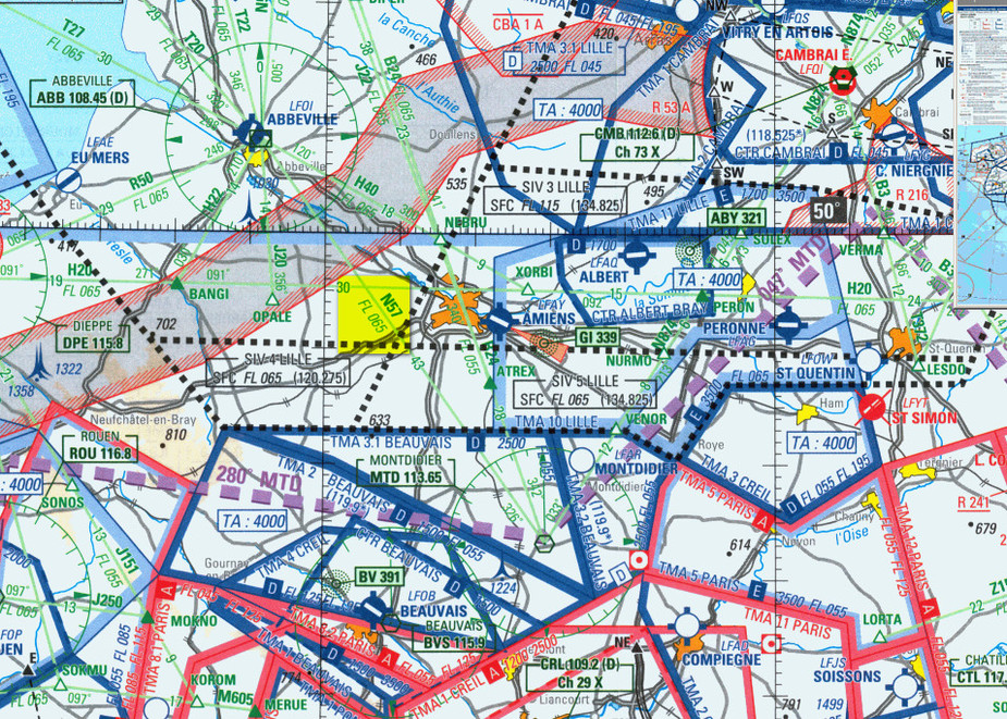 Flying - Flight plan within France