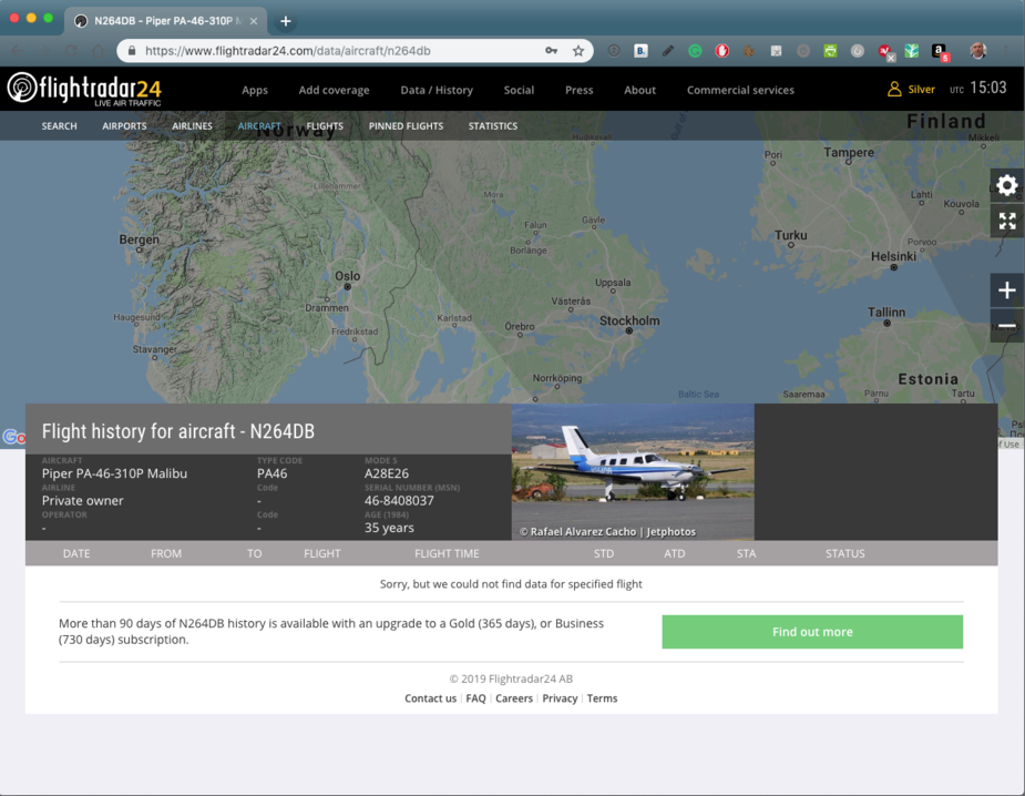 Flying - PA46 Malibu N264DB missing in the English Channel